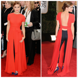 Emma Watson in Dior at Golden Globes - January 2014