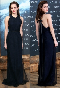 Emma Watson in Wes Gordon at the 'Noah' Premiere in Germany – March 2014
