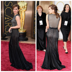 Emma Watson in Vera Wang at the Oscars in Hollywood – March 2014