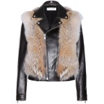 SAINT LAURENT Coyote fur and leather jacket